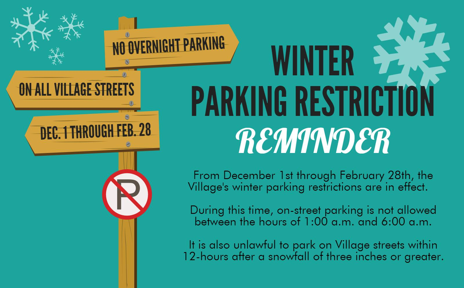 WINTER PARKING RESTRICTIONS