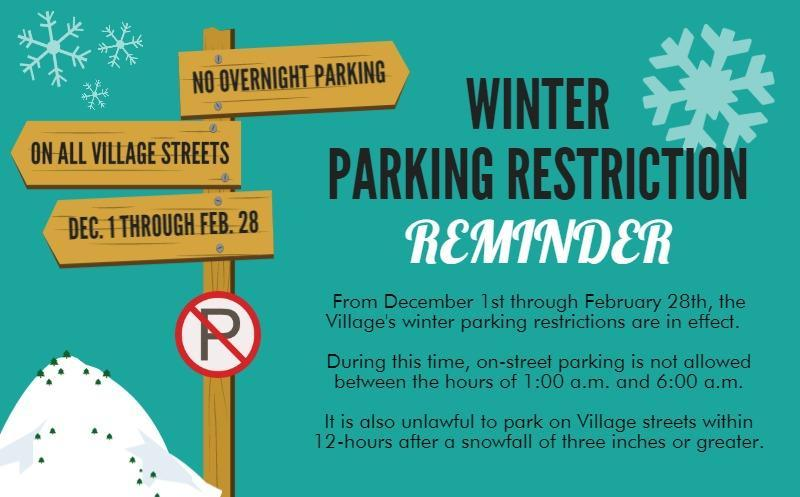 WINTER PARKING RESTRICTION